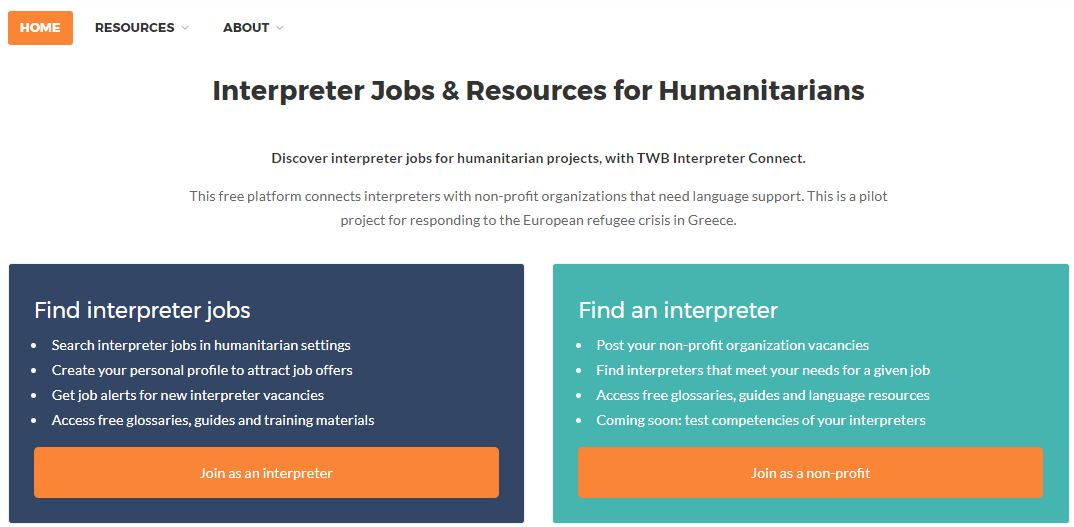 Humanitarian interpreters