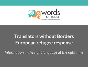 TWB services for the European refugee response