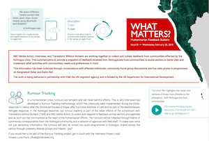 What Matters? Humanitarian Feedback bulleting