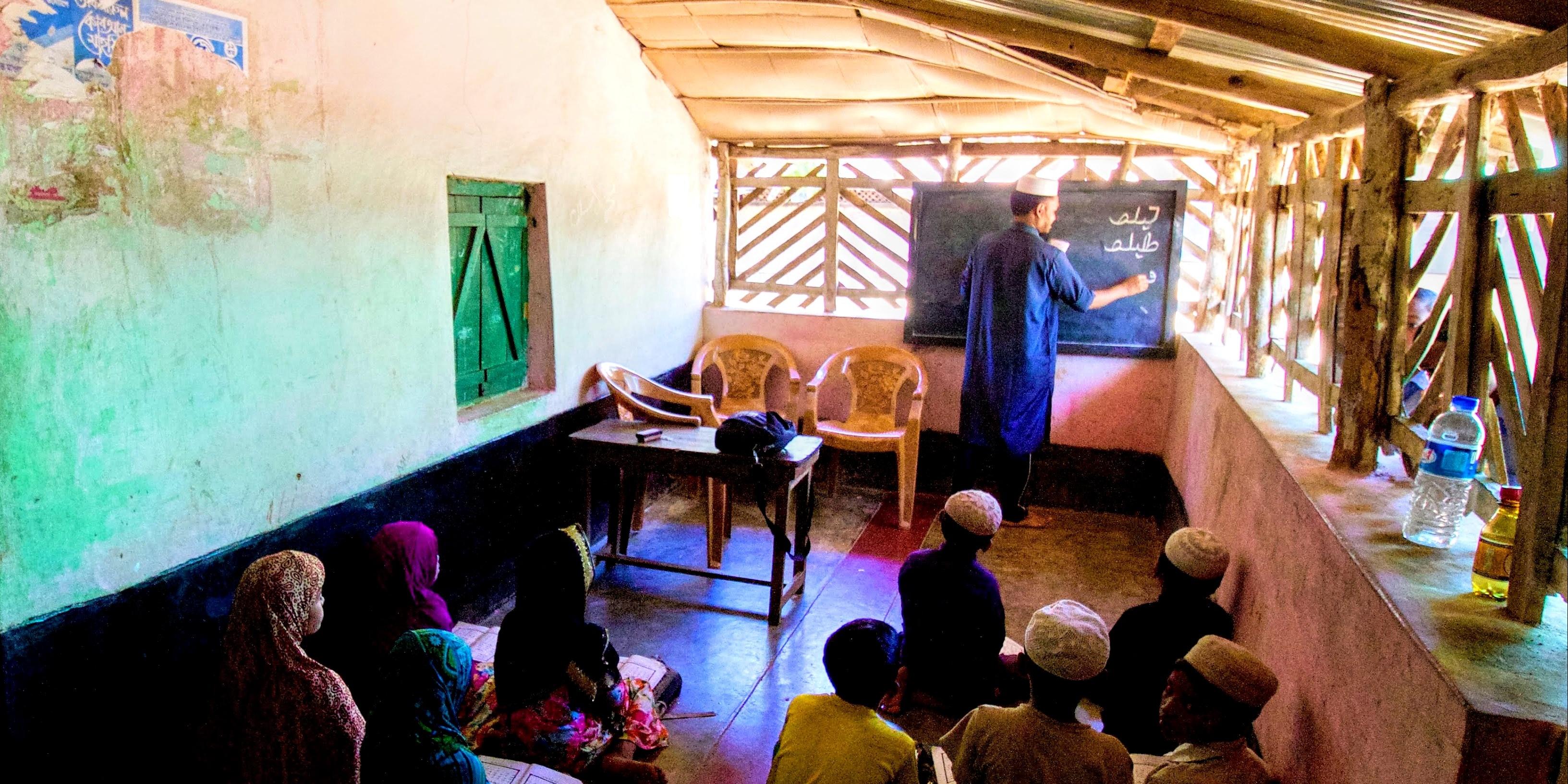 Rohingya classroom children