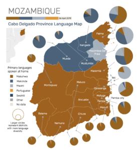 Language Map Mozambique Cabo Delgado
