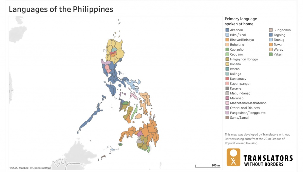 Philippines language map