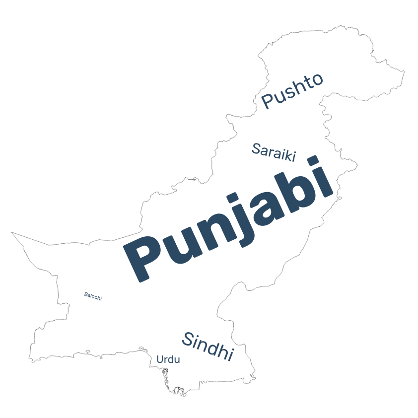 Pakistan language data map