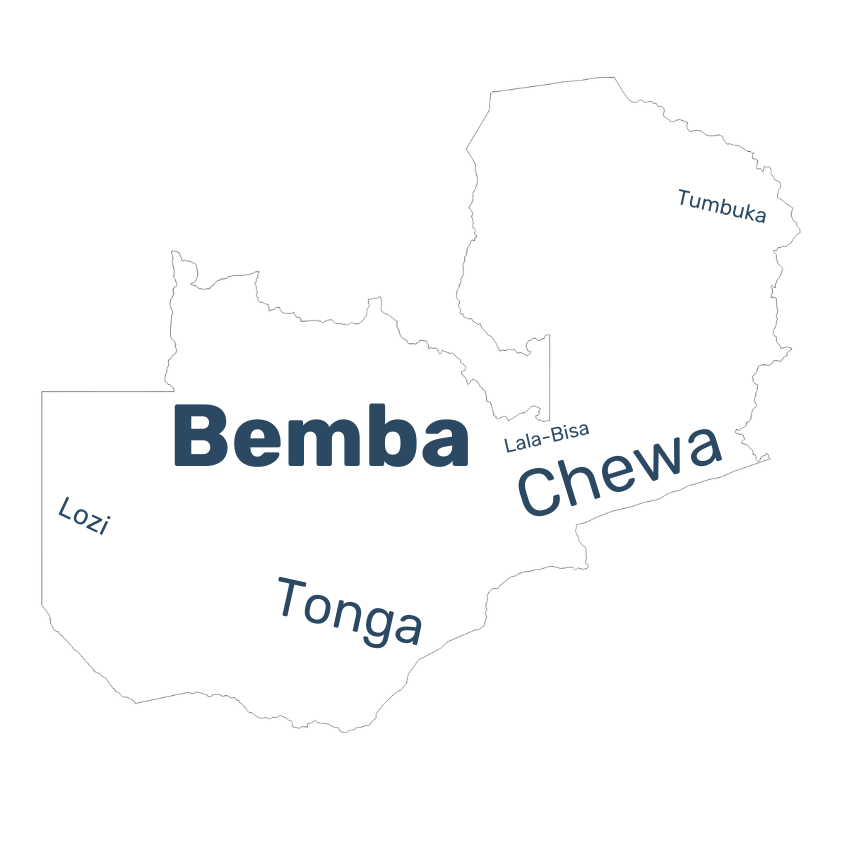 Zambia language data map