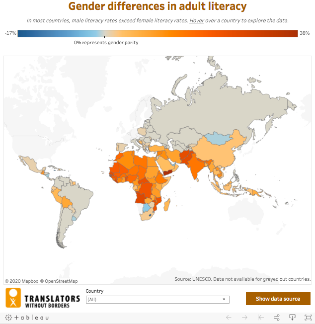 global literacy map by gender