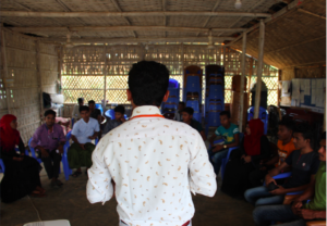 The language of leadership majhi report, Rohingya refugee camps, Bangladesh