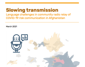 Afghanistan Research COVID-19 slowing transmission 2021