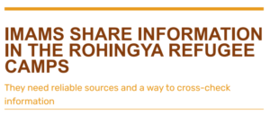 Imams share information in the Rohingya refugee camps