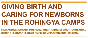Rohingya women's experiences and perspectives of birth and caring for newborns