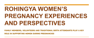 Rohingya women's experiences and perspectives of pregnancy